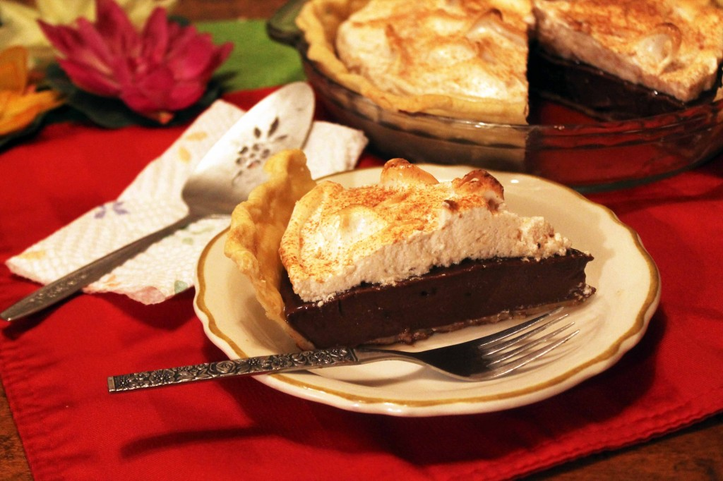 Slice of Old-fashioned Chocolate Pie