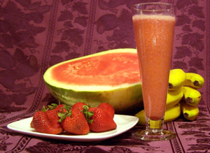 Watermelon Pomegranate Smoothie