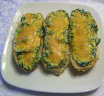 Spinach and Cream Cheese Toasties