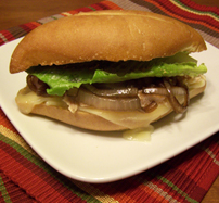 Chicken Sandwich with Caramelized Onions